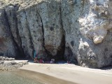 High rocks and caves