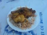 Κόκκορας κρασάτος με φλωμάρια - Chicken with traditional Flomaria pasta
