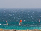 Wind surf view from the camp