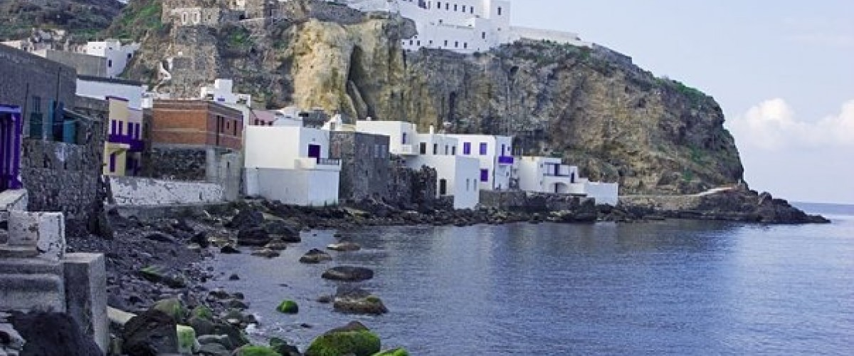 The monastery of Panagia Spiliani at Nisyros.  Alternatrips